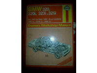 Bmw E30 & E21 owners manual book for 320,320i,323i and 325i