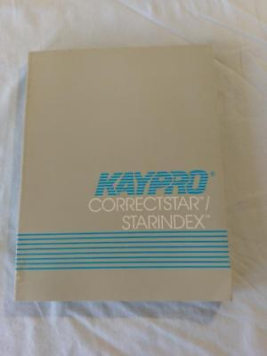 KAYPRO Correctstar / StarIndex User Manual from Kaypro PC-10 computer for sale  Shipping to South Africa
