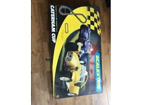Scalextric caterham cup track set