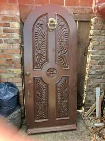Stunning Solid Wood Carved Detailed Door