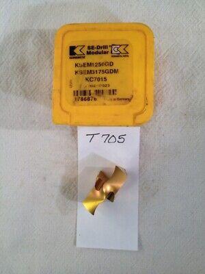 1 New Kennametal Carbide Modular Tip Insert. Ksem3175gdm. Grade Kc7015 T705