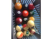 Pool and snooker balls NOW HALF PRICE FOR QUICK SALE