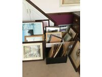 Various Ls Lowry prints and other paintings