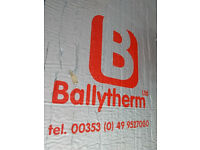 KINGSPAN RECTICEL BALLYTHERM PIR BOARDS 2OFF 100mm AND 25mm THICK 2.4M x 1.2M