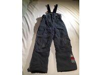 Child's Ski Set- grey GORE-TEX salopette & red/white/black GORE-TEX Jacket (both 128-134cm)