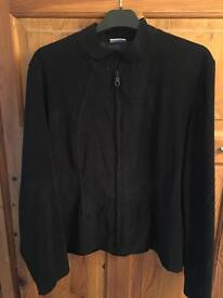 Size 14 faux suede black jacket