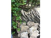 Cotswold stone roof tiles. Assorted sizes originally from Bisley