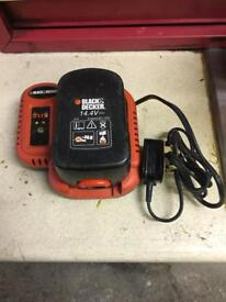 Back & decker 14.4v battery and charger for cordless drill