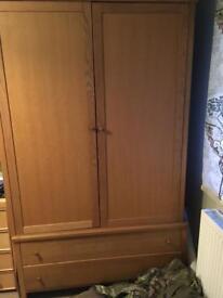 Wardrobe and drawer base (2 drawers)
