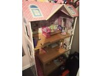 Girls three story doll house used