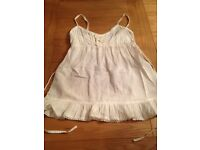 Miss Selfridge cream summer top, size 8