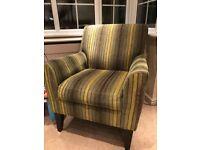 Green striped armchair