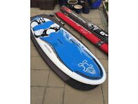 Starboard Carve windsurfing package includes sails, boom, fin, carbon mast