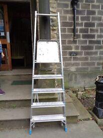 3 Heavy duty zarges platform step ladders