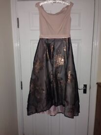 Gorgeous pink, silver, rose coast dress size 12