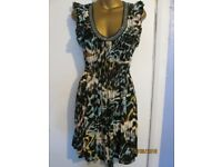 ANIMAL PRINT LONG TOP / DRESS SIZE 12 SLEEVELESS FROM DOROTHY PERKINS