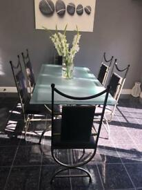 Inca gunmetal dining table