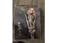 Skeleton fancy dress costume