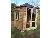 Summer House A small intimate 5 sided building.Oak,Cedar,and Mahogany in build/Quality building.