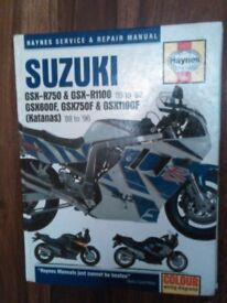 Suzuki gsx1100/750.gsx 600f 1100f.manual