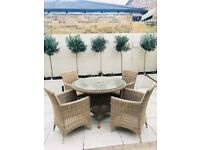 High quality 4-seater garden & patio dining set, collection only - Cozy Bay RRP £1,063