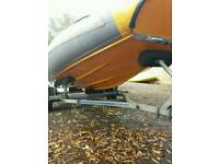 Flatacraft 4metre rib boat outboard and trailer