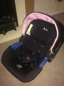 Silver cross vintage pink car seat