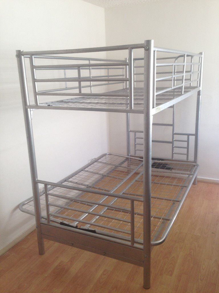 Triple Metal Bunk Bed Double Sofa Single Bed With 2