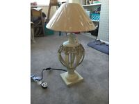 Grey / Stone distressed effect table lamp (Bedeck) - BRAND NEW!