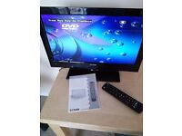 """18"""" 240v/12v LCD luxor television with built-in DVD player"""