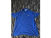 Authentic blue Lacoste shirt