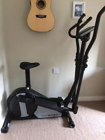 Rodger black gold 2 in 1 exercise bike and cross trainer offers welcome