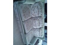 Comfy three seater sofa, with or without blue cover