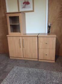 Beech effect office furniture