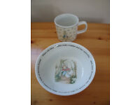 Wedgwood Peter Rabbit 1993 bowl and 1996 cup. £6 ovno each or £10 both
