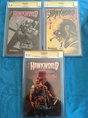 Hawkworld #1-3 set - DC - CGC SS 9.8, 9.4, 9.8 - Signed by Tim Truman