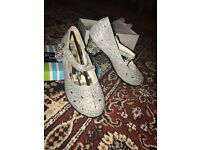 Silver Glitter party shoes