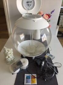 White BiOrb 30l FISH tank with multi LED LIGHTS and Heater
