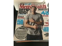 Men's health magazines x 13 will include 2 other muscle mags as well