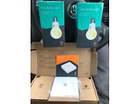 Hive hub and 2 active light bulbs