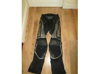 Hein Gericke leather bike trousers Size M
