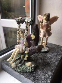 Fairy ornaments. 2 collectible Dezine pretty figurines in VGC.