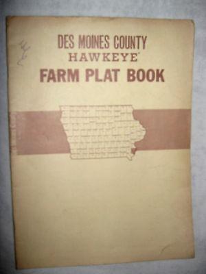 1972 DES MOINES COUNTY, IOWA FARM PLAT ATLAS DIRECTORY