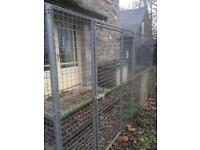 Steel mesh dog cage