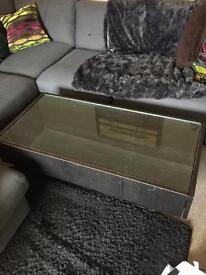 Brown Ikea coffee table