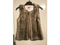 Girl's faux fur gilet age 9-10 - RESERVED