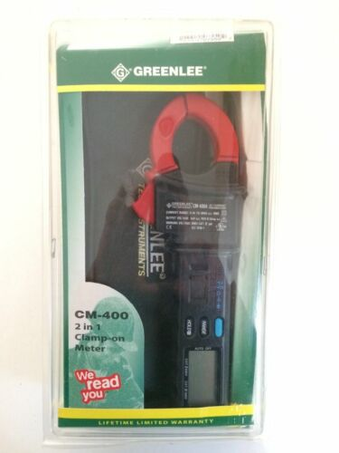 Greenlee CM-400, 2-in-1 Clamp On Meter
