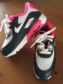 Girls Air Max trainers 9.5