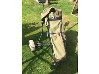 Titleist golf trolley and bag