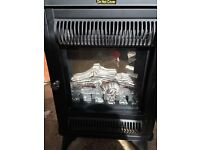 Electric fire fan heater (wood burning stove style)